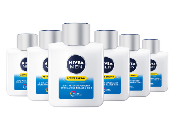 Korting 6x Nivea Active Energy 2 in 1 Aftershave