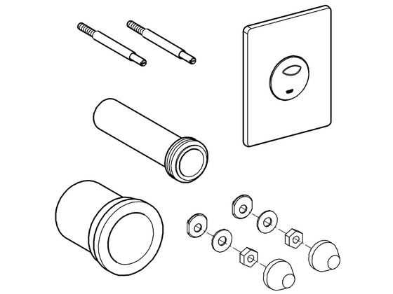 Korting Grohe 2 delige WC Pack