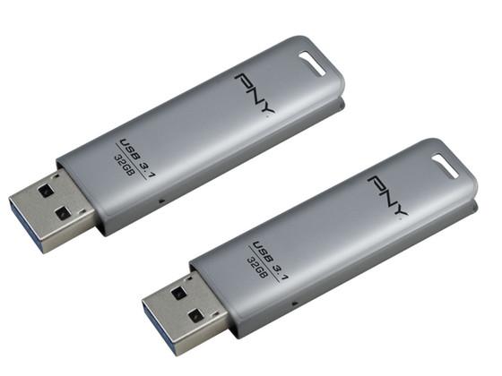 Korting 2x PNY Elite Steel USB Stick   32GB