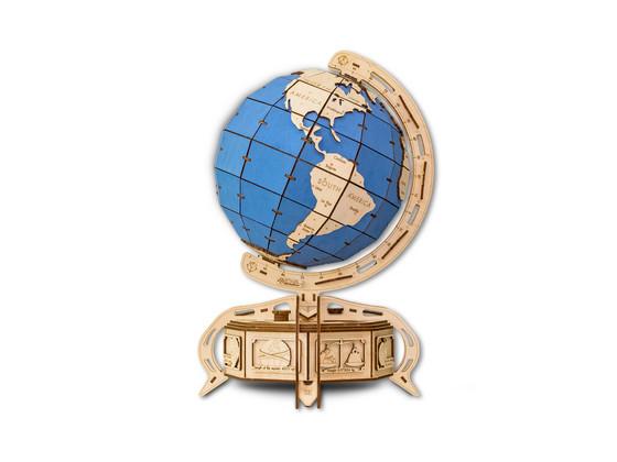 Korting Eco Wood Art The Globe Blauw Houten Modelbouw
