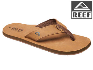 Reef Smoothy Leren Slippers