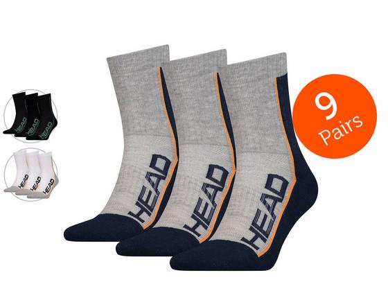 Korting Head Short Crew Sokken | 9 Paar