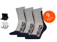 9x HEAD Performance Short Crew Socken