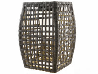 Lumineo Solar LED Wicker Lantaarn