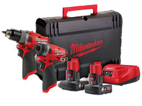 Milwaukee M12 Fuel 12 V Li-Ion Twin Kit