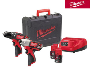 Milwaukee M12BPD + M12BID | 2 x 2.0 Ah