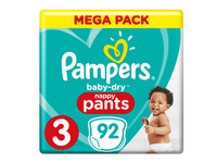 Pampers Baby-Dry Pants | Gr. 3 | 92 St.