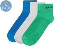 9x Skechers Basic Mesh-Kurzsocken