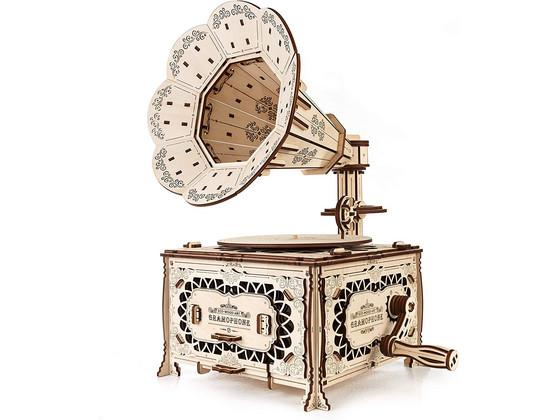 Korting Eco Wood Art Grammofoon Modelbouw