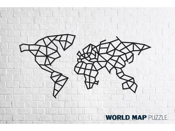 Korting Eco Wood Art Wereldkaart
