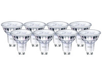 8x Philips LED-Spot | 5 W | GU10 | dimmbar