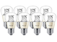 8x Philips LED-Lampe | 6 W | E27 | dimmbar