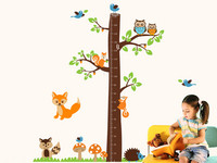 Walplus Muursticker | Fox & Tree Meetlat