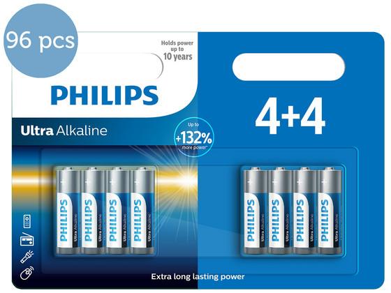 Korting 96x Philips Ultra Alkaline | AA