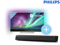 "Philips Ambilight 4K UHD 55"" TV + Soundbar"