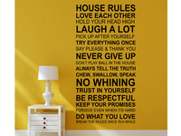 Muursticker House Rules | Engels/Frans