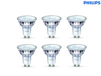 6x Philips LED-Spots GU10 | dimmbar