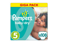 Pampers Baby Dry | Maat 5 | 108 st.