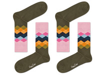 2 Paar Happy Socks | Diamonds | 41-46