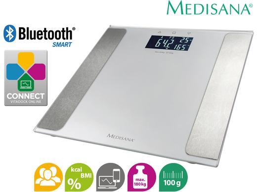medisana lichaamsanalyse weegschaal met bluetooth connect appmedisana bt lichaamsanalyse weegschaal