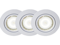 3x Brilliant Honor LED-Spot | Weiß