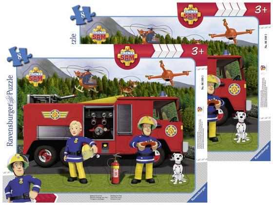 Korting 2x Brandweerman Sam Puzzel 8 pcs