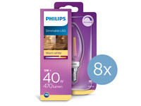8x Philips LED Classic | 5 W | E14 | dimmbar