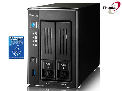 Thecus N2810 2 Bay NAS - 4K Support, ThecusOS 7 0