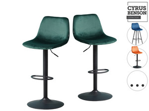2x Cyrus Benson Bar Hocker | Samt