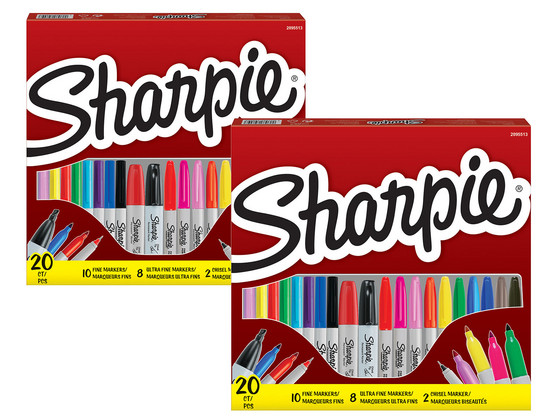 Korting 2x Sharpie Permanent Marker Assorti