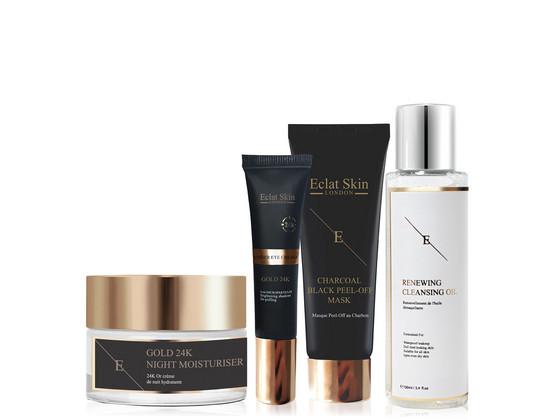 Korting Eclat Skin 24 K Set plus Masker | 4 delig