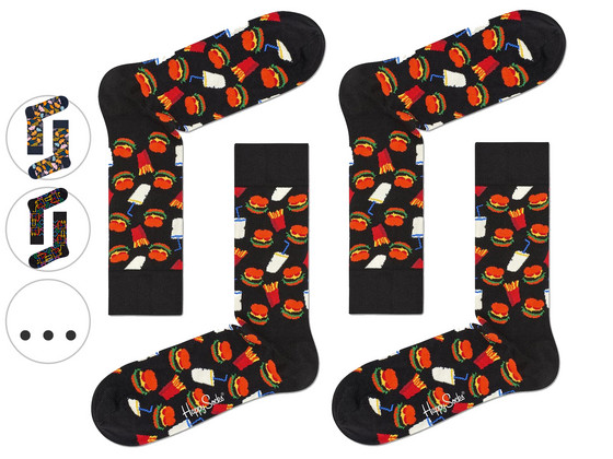Korting 2 Paar Happy Socks | Hamburger (41 46)