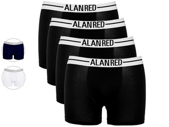 4x Alan Red Boxershorts
