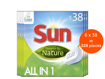 228x SUN All-in-1 Spülmaschinentabs