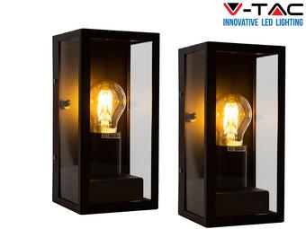 2x V-Tac Wandlamp Isaac | E27
