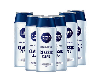 6x Nivea Men Classis Clean Shampoo 250 ml