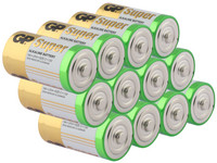 12x GP Super Alkaline Batterie | LR14 | 1,5 V