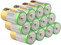 12x GP Super Alkaline Batterie | LR20 | 1,5 V