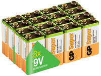 16x GP Super Alkaline Batterie | 9 V