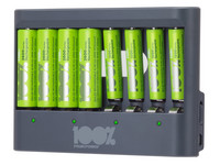 Peak Power Lader + 8 Batterijen