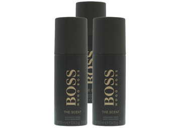 3x Hugo Boss The Scent Deo Spray