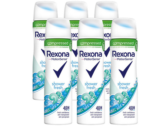 Korting 6x Rexona Fresh Shower Deo 75 ml