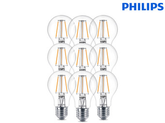 9x Philips LED-Birnen Vintage | 4,3 W