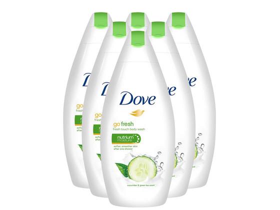 Korting 6x Dove Shower Fresh Touch   500ml