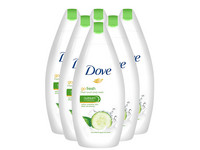 6x Dove Fresh Cremedusche | 500 ml