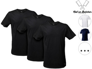3x Cotton Butcher T-Shirt | extralang