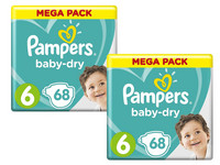 Pampers Baby Dry | Maat 6 | 136 st.
