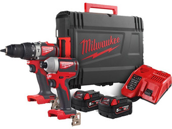 Milwaukee M18BLPP2A2-502X Twin Pack Kit