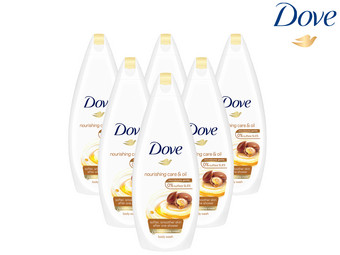 6x Dove Shower Nourish Oil Care