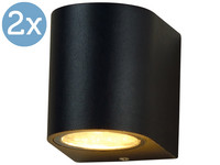 2x LED's Light Round Buitenlamp | GU10
